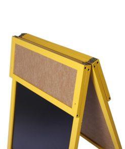 Holz Kundenstopper 140x60cm mit Zusatztafel, Zusatztafel heruntergeklappt