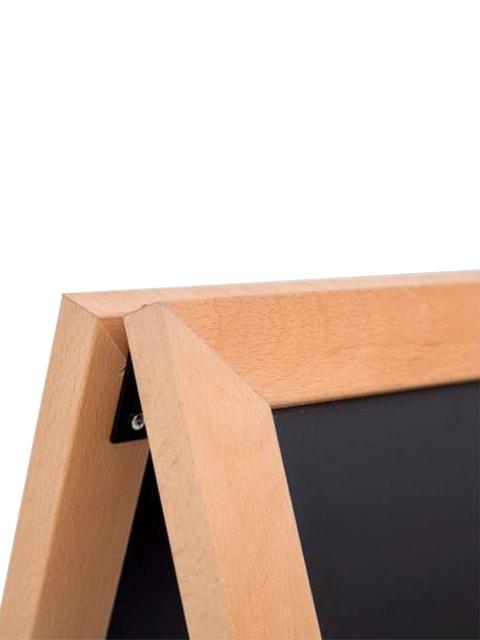 Wetterfester Holz Kundenstoppers, Detailansicht der Ecke