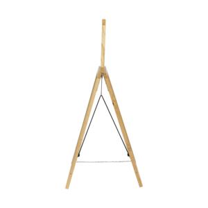 Holz Kundenstopper Kreidetafel mit Topschild und einer Kette zum Zusammenhalten der beiden Aufstelltafeln, A Aufsteller aus Holz