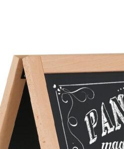 Holz Kundenstopper mit magnetischer Kreidetafel zum Beschriften und Folieren, Buche