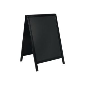 Holz Kundenstopper wetterfest in schwarz Aufstellgrösse 85x55cm, Securit Holzaufsteller schwarz für Aussenbereich