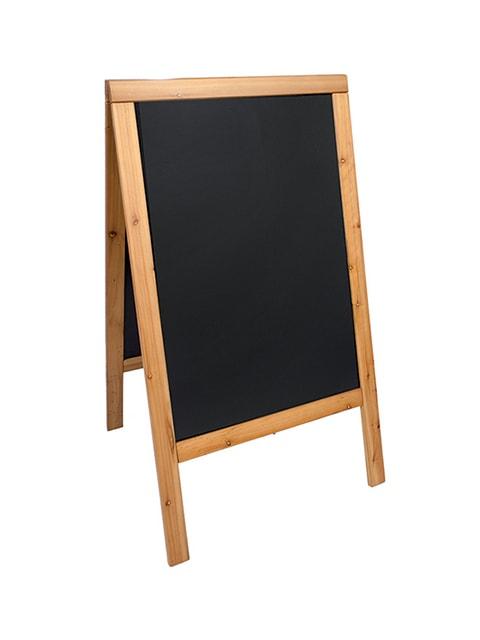 wetterfester holz kundenstopper 125x70cm in hellbraun. Black Bedroom Furniture Sets. Home Design Ideas