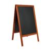 wetterfester Holz Kundenstopper Mahagoni von Securit, Restaurant Tafel rot mit beschriftbarer Kreidetafelfläche für Kreide und Kreidemarker