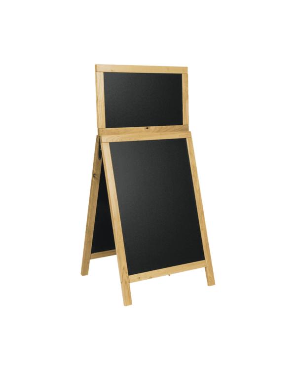wetterfester Holz Kundenstopper mit Topschild geeignet für Restaurants, Bars, Clubs, etc.