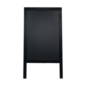 wetterfester Holz Kundenstopper schwarz mit Kreidetafel zum Beschriften und Aufstellen im Einzelhandel, Restaurants