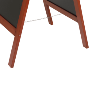 Abstandskette eines Holz Kundenstoppers Aufsteller mit Mahagoni Holzrahmen, A Aufsteller aus Holz