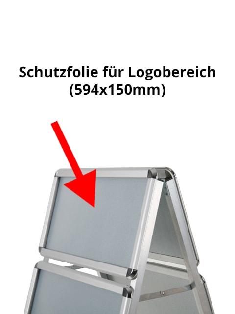 Antireflex UV Schutzfolie für Kundenstopper Logobereich-Topschild
