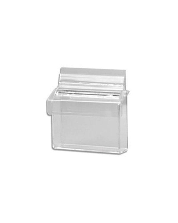 Visitenkartenbox auf Acryl für das Anbringen an der Wand oder Schaufenster