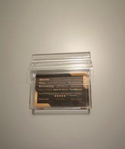 Visitenkartenbox mit Deckel aus Acryl, geeignet zum aufhängen oder bekleben