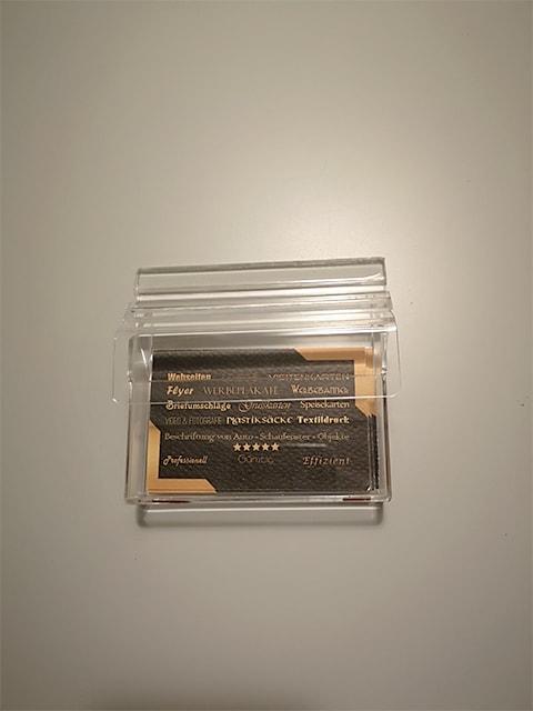Visitenkartenbox Mit Deckel Inkl Klebstreifen