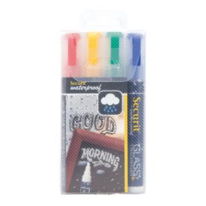 wasserfeste Kreidemarker Securit farbig mit 2-6mm Spitze zum Schreiben auf Kreidetafeln und Glas, Kreidemarker wasserfest Securit farbig günstig online kaufen
