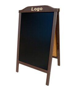 Holz Kundenstopper mit individueller Gravur, Holzaufsteller für Restaurants, Bars, etc.,