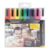 farbige Kreidestifte Securit 8er Set, Kreidemarker 6mm für das Beschriften von Kundenstopper und Keidetafeln