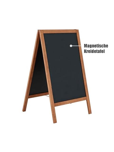 Holzaufsteller mit magnetische Kreidetafel, wetterfest