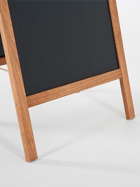 wetterfester Holz Kundenstopper magnetisch, Gumminopen