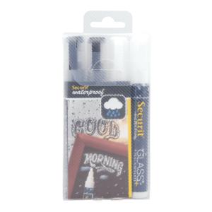 wasserfeste Kreidemarker schwarz und weiss als Set für die Beschriftung von Kreidetafeln und Schaufenster