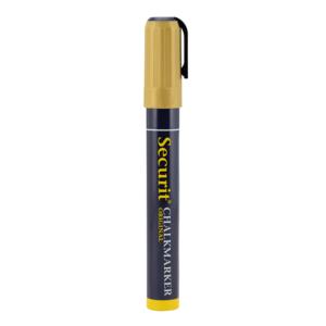 Kreidemarker Gold Securit mit 2-6mm Spitze, Kreidestifte für die Beschriftung von Kreidetafeln und Wandtafeln, Metalic Kreidemarker Gold