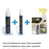 Kreidemarker-Sparset 6, 15mm weiss, 6mm weiss + Reiniger + Schwamm.
