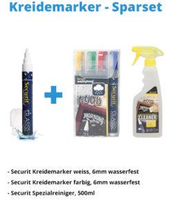Kreidemarker-Sparset 8, 6mm weiss, 6mm farbe + Reiniger