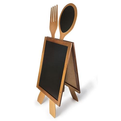 Kundenstopper Gastro geeignet für Gastronomen, Holzaufsteller Gastro