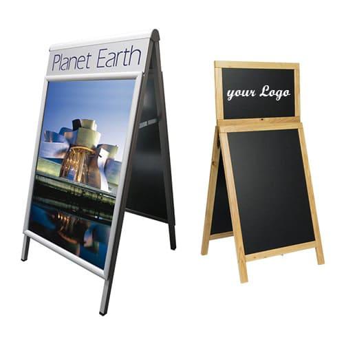 Kundenstopper mit Topschild - Logoschild online kaufen