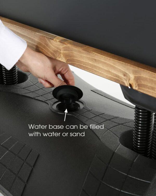 auffüllbarer Wassertank vom Kundenstopper Wood Windpro (2)