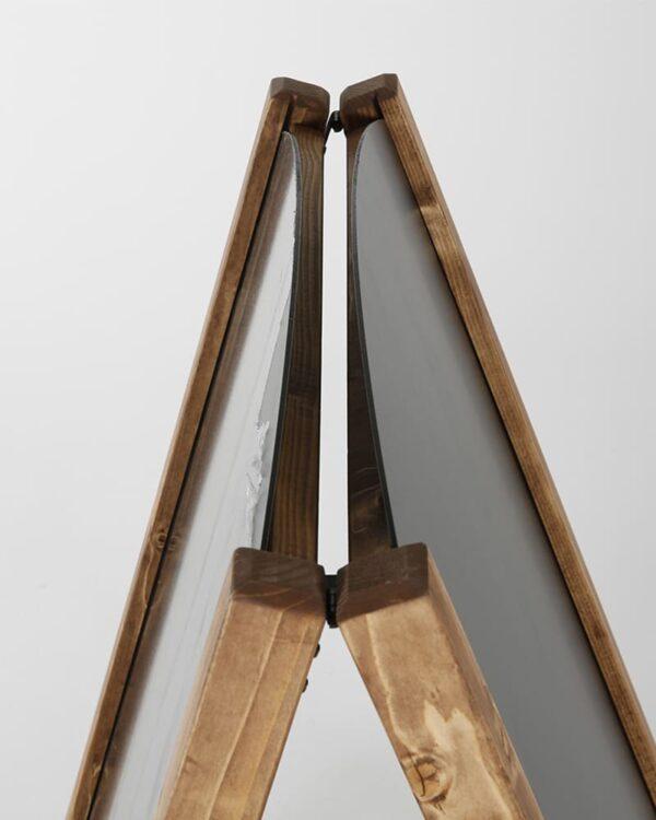 A Aufsteller Tafel mit herausnehmbarer Tafelfläche magnetisch und rundem Top