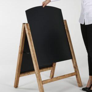 Holzaufsteller Kreidetafel Slide In magnetisch zum Beschriften mit Kreide und Kreidemarker für Restaurants und Bars