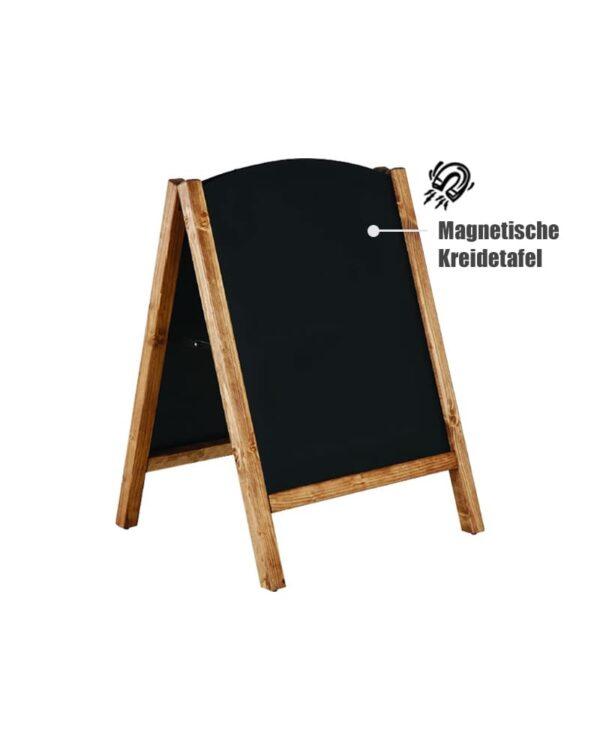 magnetischer Kundenstopper Kreidetafel mit austauschbarer Slide In Tafel beschriftbar mit Kreide und Kreidemarker