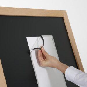 Magnetischer Holzaufsteller in Naturholz Buche geeignet für die Verwendung im Aussenbereich, 95x54cm gross