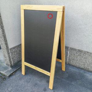 Holz Kundenstopper 140x70cm, Deluxe, Buche, WETTERFEST Occasion,Beschädigt vorne seitlich