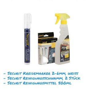 Kreidemarker-Sparset 8 2-6mm weiss, Reinigungsmittel für Kundenstopper, wasserfest