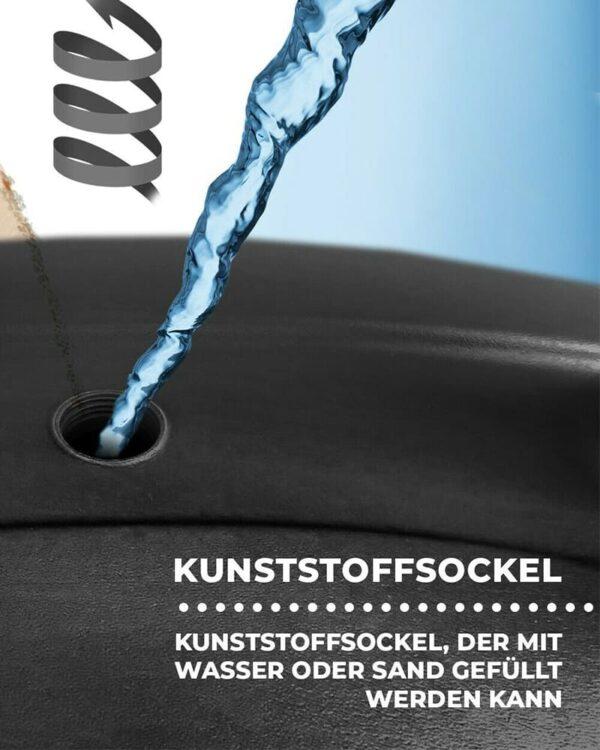 Plakatständer schwarzer Wassertank für stabilen Halt bei Wind & Wetter