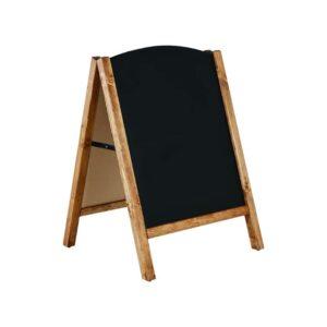 Holz Kundenstopper mit Kreidetafel & Infoständer aus Holz für den Innen- und geschtzten Aussenbereich