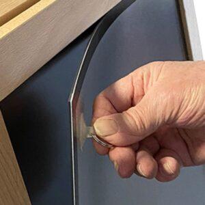 Magnetischer Holz Kundenstopper mit magnetischer Antireflex UV Schutzfolie für Plakate