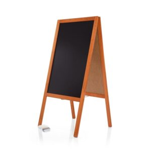 Gehwegkreidetafel mit Holzrahmen Mahagoni 120cm für Restaurants und Bars