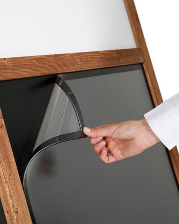 Magnetischer Holz Kundenstopper mit Magnetfolie für Plakat DIN A1