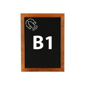 Kreidetafel magnetisch B1 mit dunklem Holzrahmen günstig online kaufen