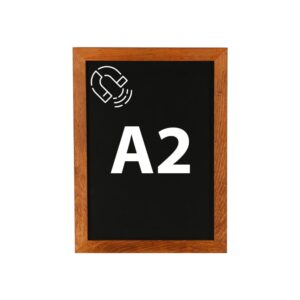 Kreidetafel magnetisch DIN A2 mit dunklem Holzrahmen günstig online kaufen